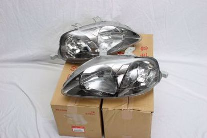Picture of Genuine Honda EK9 Gunmetal Headlights pair Civic 99-00 2 3 4dr