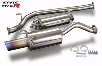 Picture of TODA Racing Exhaust System titanium straight tail Civic Type R FD2