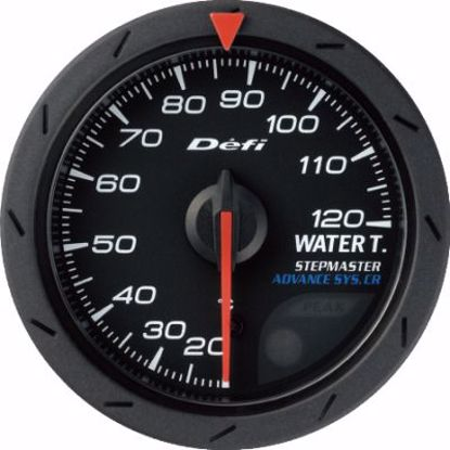 Picture of Defi Advance CR Water Temp Gauge Black Face 52mm