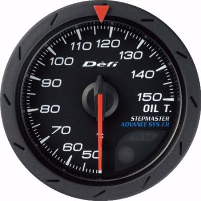Picture of Defi Advance CR Oil Temp Gauge Black Face 52mm