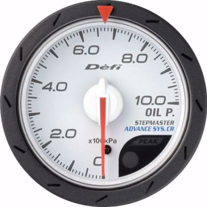 Picture of Defi Advance CR Oil Pressure Gauge White Face 52mm