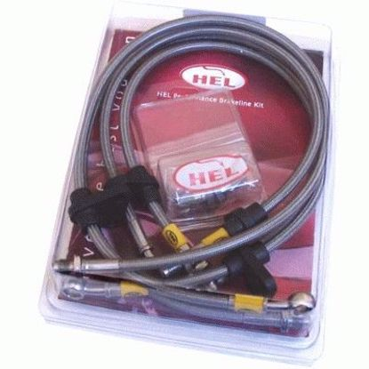 Picture of Hel 4pc Braided Stainless Steel Brakeline Kit S2000 99 to 09