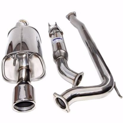 Picture of Invidia Q300 Stainless Steel Exhaust System Rolled Tip Integra DC5