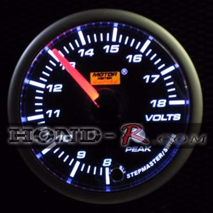 Picture of Motor Meter Racing Voltage Gauge 52mm Amber/White