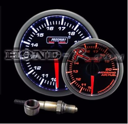 Picture of Motor Meter Racing / ProSport Series Wideband Air/Fuel Gauge With Bosch LSU 4.9 Sensor 60mm Amber/White