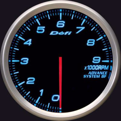 Picture of Defi Advance BF Tacho/REV 0-9000 RPM Gauge 80mm Blue Illumination
