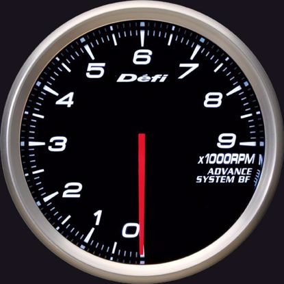 Picture of Defi Advance BF Tacho/REV 0-9000 RPM Gauge 80mm White Illumination