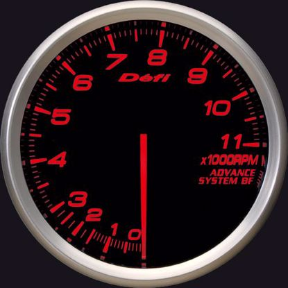 Picture of Defi Advance BF Tacho/REV 0-11,000 RPM Gauge 80mm AmberRed Illumination
