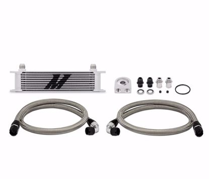 Picture of Mishimoto Universal Oil Cooler Kit Thermostatic/Non Thermostatic 10 Row