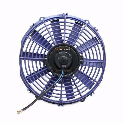 """Picture of Mishimoto Universal Slim 12"""" Pusher/Puller Cooling Fan Blue"""