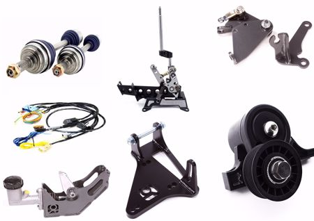 Picture for category Engine Conversion Wiring Adapters, Axles, Re-Locators, Wiring Harnesses, Shifters, A/C Kits, Etc