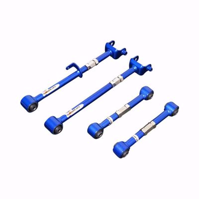 Picture of HARDRACE ADJUSTABLE REAR CAMBER AND TOE CONTROL ARM WITH HARDENED RUBBER BUSHES 4PC SET HONDA ACCORD CU 08-15